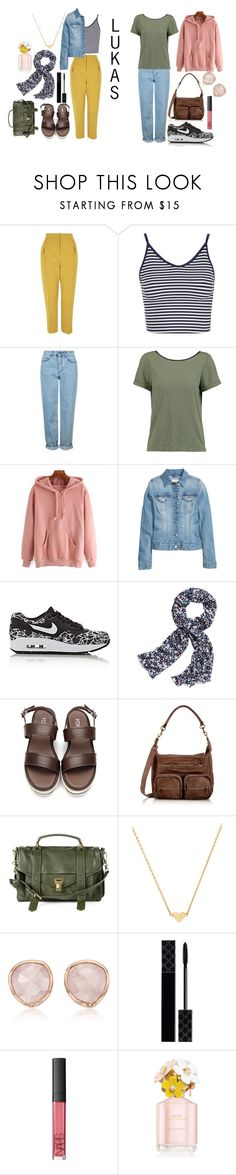 """""""Lukas Trailerpark"""" by sanni-h-ff ❤ liked on Polyvore featuring Topshop, Alice + Olivia, H&M, NIKE, Canvas by Lands' End, Liebeskind, Proenza Schouler, Stella & Bow, Monica Vinader and Gucci"""