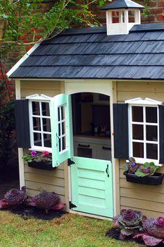 Little Green Notebook The Playhouse & How to Make a Double Dutch Door for a Playhouse | Dutch doors ...