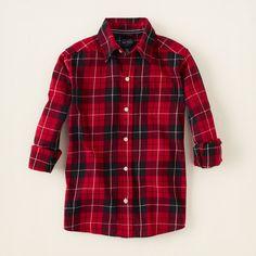 boy - long sleeve tops - plaid shirt | The Children's Place