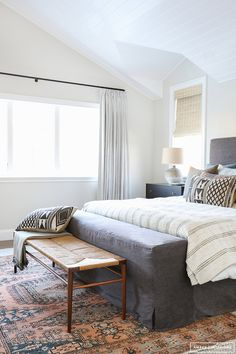 grey bedroom by Amber Interiors
