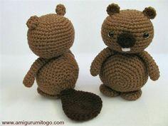 An adorable crochet amigurumi beaver. Crochet Beaver Free Patern - Media - Crochet Me