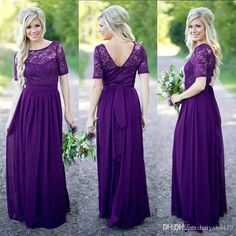 Country Bridesmaid Dresses 2017 Hot Long For Weddings Navy Blue Purple Chiffon Short Sleeves Lace Beaded Floor Length Maid Of Honor Gowns 2017 Bridesmaid Dress Country Bridesmaid Dresses Plus Size Bridesmaid Dresses Online with $101.15/Piece on Haiyan4419's Store   DHgate.com