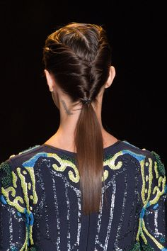 Day to night hair inspiration from Herve Leger Fall 2015.