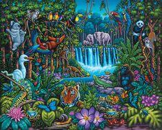 Wild Jungle   Dowdle Folk Art