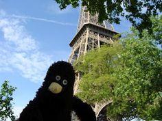 Erwin sieht den Eiffelturm.