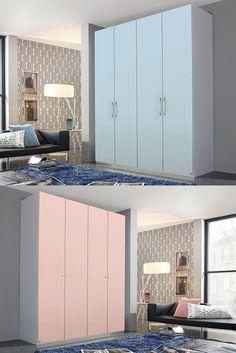 pastellfarbener Kleiderschrank yourJOYce | Pastellfarben wecken die Lebensgeister und sorgen für feine Akzente in deinem Schlafzimmer. #pastell #sleep #bedroom #childrensroom #home #MoebelLETZ