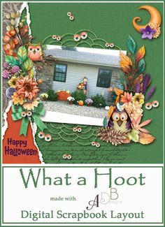 #WhatAHoot! by #ADBDesigns has a festive mix of leaves and flowers, owls and googly eyes ready to help you find the right balance for your autumn and #Halloween family #digitalscrapbook pages.  https://adb-designs.com/shop/index.php?main_page=advanced_search_result&search_in_description=1&keyword=ADB-what-a-hoot