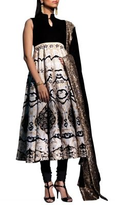 16 Panel Embroidered Anarkali Suit | Strandofsilk.com - Indian Designers