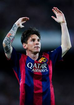 Lionel Messi of FC Barcelona celebrates after scoring the opening goal during the Copa del Rey Final match between FC Barcelona and Athletic Club at Camp Nou on May 30, 2015 in Barcelona, Catalonia.