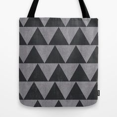 Triangles(charcoal) Tote Bag by Georgiana Paraschiv | Society6