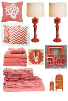 Coral is warm, energetic, natural, and inviting. It coordinates beautifully with white, ivory, navy, wheat, green... So many choices!