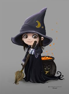 Urska the lil witch by valkyriefairy.deviantart.com