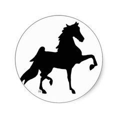 American Saddlebred Horse Round Sticker