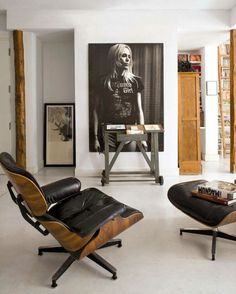 HOW TO DECORATE WITH LEATHER LOUNGE CHAIRS
