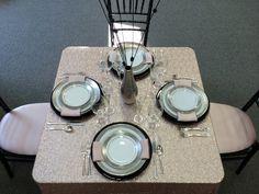 Champagne glitz sequin table