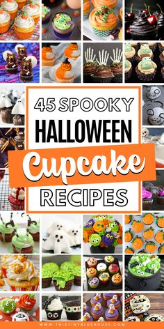 40 Super cute spooktacular Halloween cupcakes to make this Halloween extra delicious. Super easy super spooky these Halloween cupcakes are a must try. babies flight hotel restaurant destinations ideas tips Halloween Cupcakes, Halloween Desserts, Holidays Halloween, Spooky Halloween, Halloween Treats, Halloween Foods, Halloween Party, Halloween Brownies, Spooky Food