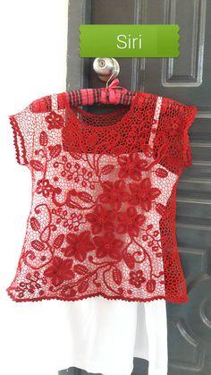 Russian Crochet, Irish Crochet, Crochet Top, Irish Lace, Macrame, Shirt Dress, Crop Tops, Knitting, Sewing