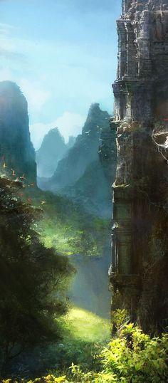 Imee Ooi by http://agnidevi.deviantart.com ~ Fantasy Landscape