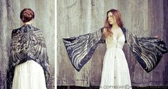 This unique bohemian wings and bird feathers shawl scarf features:  Hand-painted and digitally printed Art of Wide - Spread Wings, this highly detailed representation of Nature, Freedom and Beauty is my Labor of Love. Just put it over your shoulders to look & feel divine. This scarf would make the most amazing gift for your loved ones!  Truly versatile, this scarf looks great paired with any outfit, SO many ways to wear it! Classic scarf or shawl, tube top or halter top, as a bandana or…