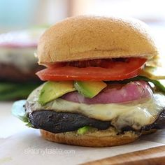 Grilled Portabello Burger - Made this 4th of July last year for the non-meat eaters and they were a hit! I even caught a couple of Juicy Burger lovin', dyed in the wool meat eaters having 1 or 2