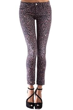 Pantalón de IRO estampado pitillo de talle alto. 98% Algodón Pantalón Print 5 Pocket de IRO @ www.miinto.es