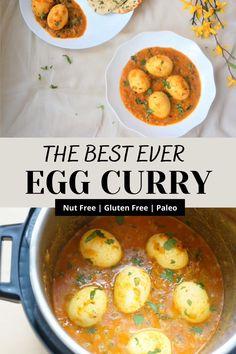 Paleo Indian Recipes, Lentil Recipes, Curry Recipes, Vegetarian Recipes, Biryani Recipe, Manchurian Recipe, Healthy Curry Recipe, Cooking Curry, Egg Curry