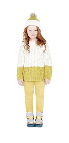 Stella McCartney Kids AW Swallow Jumper, Nina Trousers, Archie Shoes and Tweedle Hat. Fall Winter 2014, Winter Hats, Girl Fashion, Fashion Show, T Baby, Stella Mccartney Kids, Inspiration For Kids, Knitting For Kids, Girls Sweaters