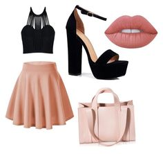 """""""Cute!!!!"""" by samank411 ❤ liked on Polyvore featuring beauty, Posh Girl, Boohoo, Corto Moltedo and Lime Crime"""