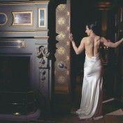 A stunning bride in a backless gown at Eastnor Castle  www.eastnorcastle.com #eastnorcastle A romantic, fairytale exclusive-use castle wedding venue.