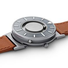 Originally developed for blind people, The Bradley contains a magnet that rotates two ball bearings around the watch face allowing users to tell the time without needing to look — the front ball indicates minutes, while the rear ball shows the hour. #watches #design