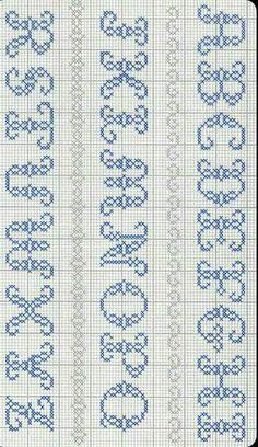 Best 11 Cross stitch alphabet by – SkillOfKing. Unicorn Cross Stitch Pattern, Cross Stitch Alphabet Patterns, Cross Stitch Letters, Cross Stitch Designs, Stitch Patterns, Crochet Patterns, Beading Patterns, Cross Stitch Pillow, Cross Stitch Needles