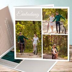 Elegante Monogramm Paar Foto Hochzeits Einladung