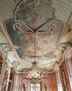 Schloss Benrath #Palace #Schloss #Benrath #Chandelier...