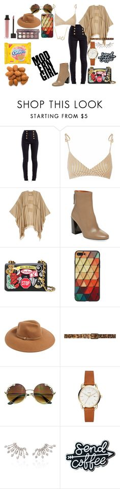 """""""Untitled #125"""" by amor-de-pandicornios on Polyvore featuring Balmain, Burberry, Pure Navy, Moschino, Forever 21, Dorothy Perkins and Cotton Candy"""