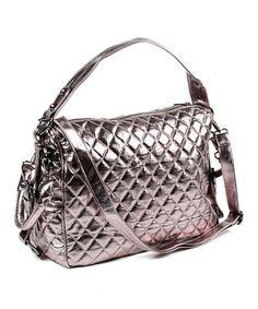 Take a look at this Metallic Gunmetal Mira Shoulder Bag by Amrita Singh  on #zulily today!