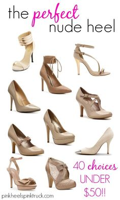 Bought these nude heels last night - Can't wait to wear them for ...