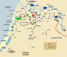puerto vallarta old town map