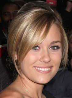 Lauren Conrad Updo with Bangs, I like how face framing they are when her hair is up