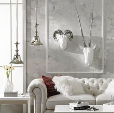 Looking for Gray Contemporary Living Space and Living Room ideas? Browse Gray Contemporary Living Space and Living Room images for decor, layout, furniture, and storage inspiration from HGTV. Living Room White, White Bedroom, Living Room Decor, Living Rooms, Bedroom Themes, Bedroom Decor, Wall Decor, Fur Decor, Bedroom Wall