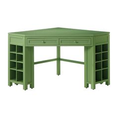 Martha Stewart Living Rhododendron Leaf Corner Craft Table-0795200600 at The Home Depot