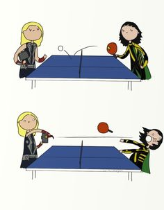 .That's not how you table tennis. by bababug.deviantart.com on @deviantART