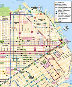Cable Car Route From Fisherman S Wharf To Union Square