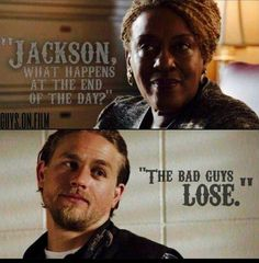 """the bad guys lose"" (Sons of Anarchy) Soa Cast, Anarchy Quotes, Sons Of Anarchy Motorcycles, Sons Of Anarchy Samcro, Charlie Hunnam Soa, Jax Teller, Best Shows Ever, Best Tv, Favorite Tv Shows"
