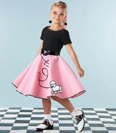 Cute Girls Poodle Skirt Halloween Costume From Chasing Fireflies