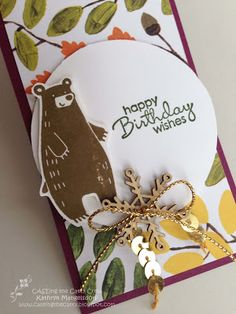Kathryn's Stampin' World: CASE-ing the Catty Into the Woods - CTC55 - Thankful Forest Friends & Petite Pairs stamp sets
