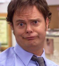 Dwight Schrute:I'm Jim Halpert. Jim Halpert:Spot on. Dwight Schrute:Yuhh, little comment, mmmh