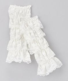 Take a look at this Ivory Lace Ruffle Leg Warmers by Zuzu's Petals on #zulily today!