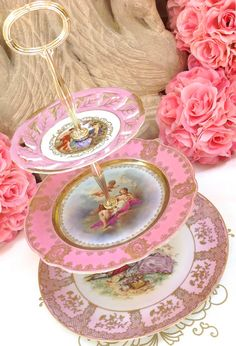 Pink Mythical China Cake Tier  3 Tier Cake by HelensRoyalTeaHouse, $200.00