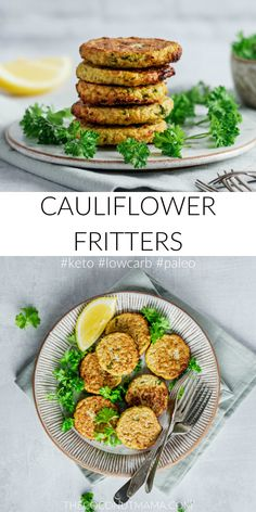If you are looking to change up your carb-heavy hash brown breakfast. These baked light cauliflower fritters are the perfect answer. They are moist on the inside with a crispy and crunchy outer layer Primal Blueprint Recipes, Primal Recipes, Beef Recipes, Real Food Recipes, Salad Recipes, Vegetarian Recipes, Healthy Recipes, Real Foods, Icing Recipes