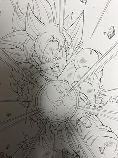 Dessin : Son Gokū (Kakarotto) Migatte no Gokui Kansei [Keme Hame Ha] (youngjijii) Twitter
